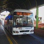 Começam os testes do ônibus híbrido da Volvo em Araraquara