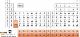 Nova Tabela Periódica, com mais quatro elementos, é oficializada no Brasil