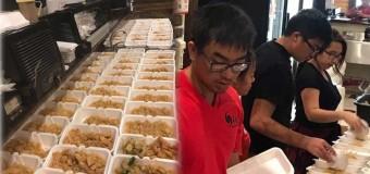 Irmãos fazem e doam 1.000 refeições para vítimas do furacão