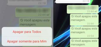 WhatsApp liberou: apague mensagem enviada por engano